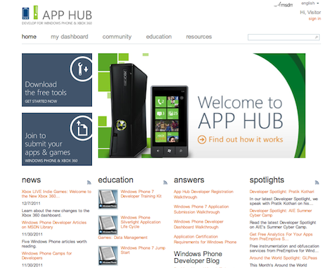 Fast Track to the Mobile App: App Hub, Your First Step in