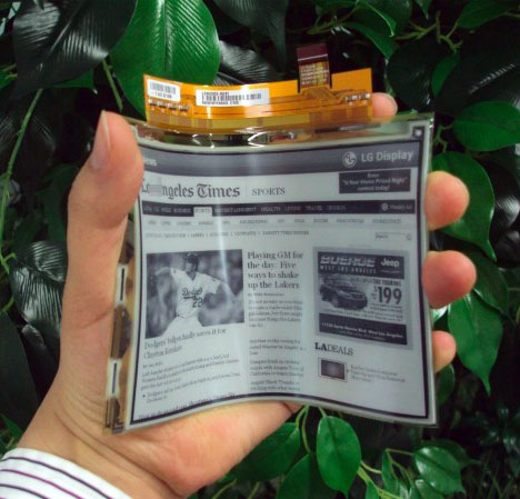 LG's Flexible Displays Go Into Mass Production - Core77