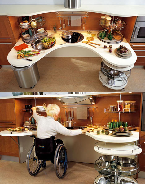 wheelchair kitchen design skyline lab wheelchair friendly kitchen design core77 1001