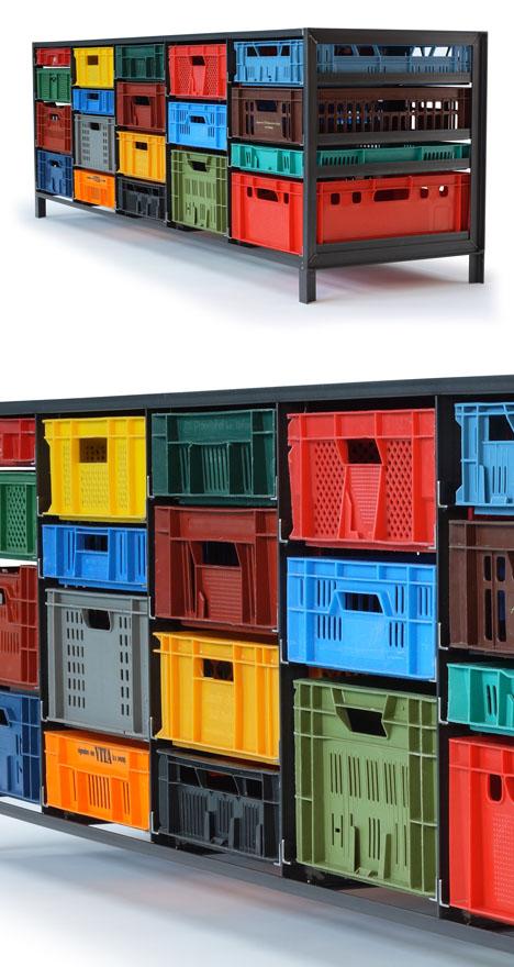Mark Van Der Grondens Storage Furniture From Repurposed