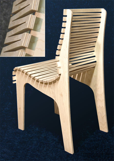 Prime Randy Weersings Zig Zag Chair Three Pieces Of Plywood And Ncnpc Chair Design For Home Ncnpcorg
