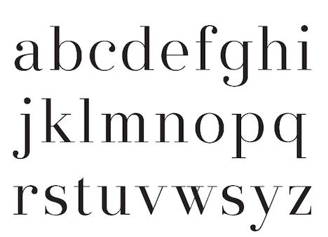 The Descender Is Slightly Shorter And Extended Compared To Other Modern Typefaces Like Didot Bodoni