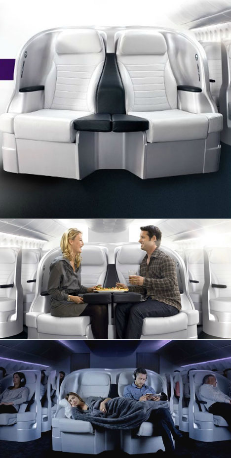 Experimental Seating Designs for Airplane Cabins - Core77
