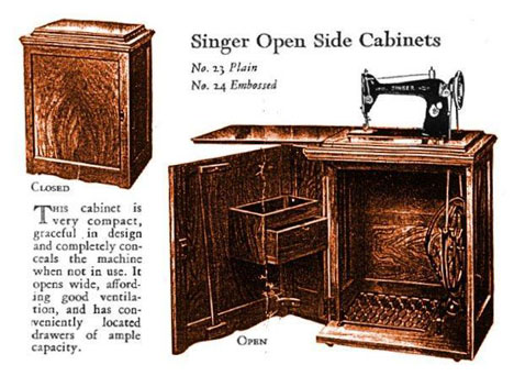 sourcing wood for furniture then now the singer sewing machine rh core77 com vintage singer sewing machine in wooden cabinet vintage singer sewing machine in wood cabinet