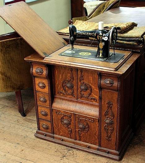 sourcing wood for furniture then now the singer sewing machine rh core77 com value of old singer sewing machine in wood cabinet vintage singer sewing machine in wooden cabinet