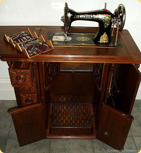 sourcing wood for furniture then now the singer sewing machine rh core77 com vintage singer sewing machine in wood cabinet value of old singer sewing machine in wood cabinet