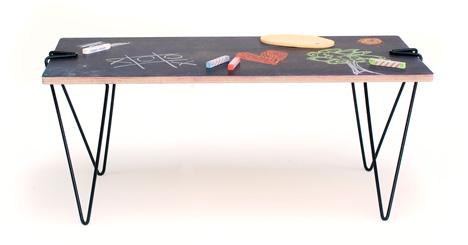 Trestle Meets Eiffel In Linie58 S Tick Clip On Table Legs