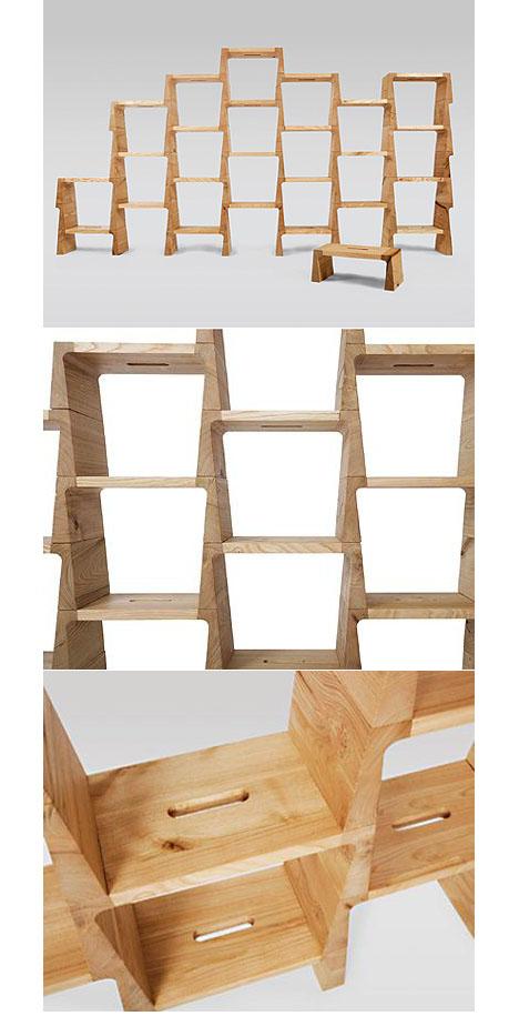 modular stacking shelves examples of designers doing the same thing rh core77 com Stacking Glass Shelves Modular Nesting Table into Shelf