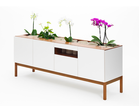 La Credenza Uk : London design festival 2012: a living credenza with hidden plant
