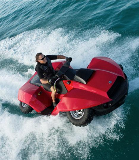 Hayabusa Motorcycle Engine Jet Ski: The Quadski: An ATV That Transforms Into A Jet-Ski