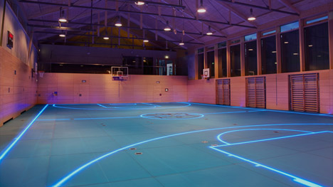 presenting the tron basketball court asb glassfloor