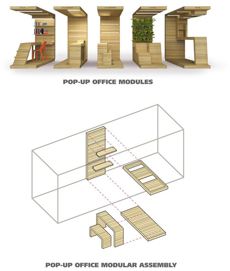 pop up house components