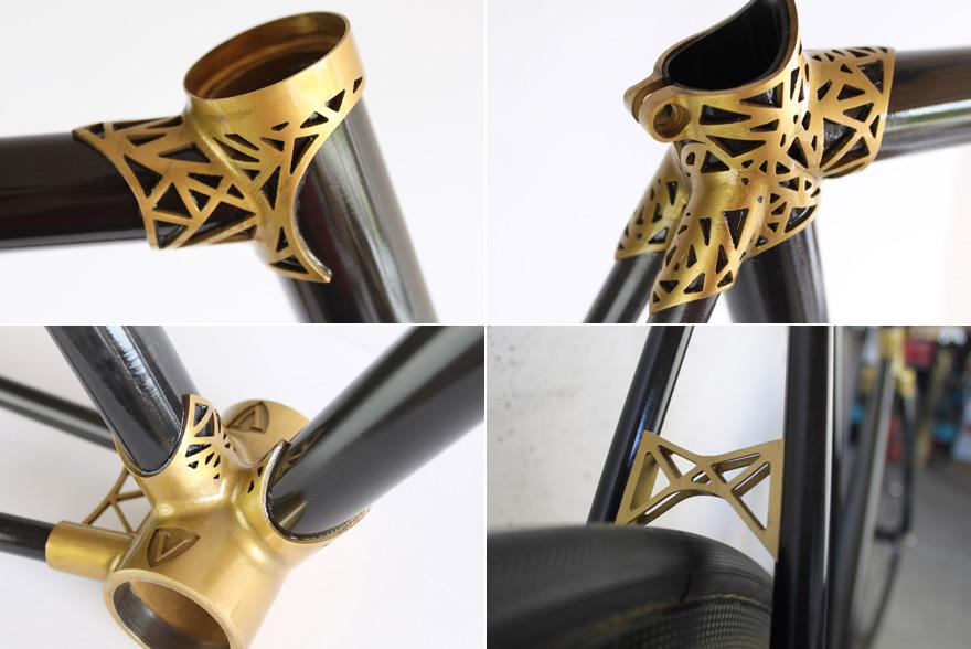 Fiber One News >> 3D-Printed Bike Porn: Ralf Holleis's Carbon Fiber VRZ 2 Track with Titanium Lugs and Dropouts ...
