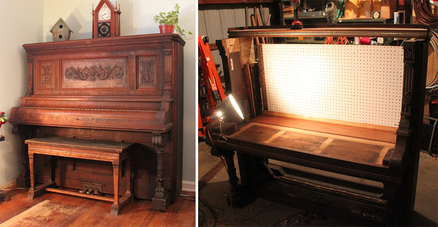 Secret Es Repurposing A Piano Into Hidden Workbench