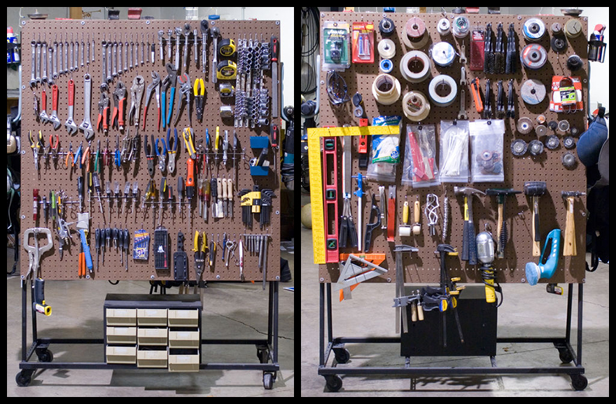 Rolling Tire Storage Rack >> DIY Rolling Pegboard Tool Storage - Core77