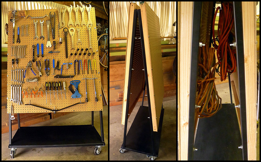 rolling garage storage ideas - DIY Rolling Pegboard Tool Storage Core77