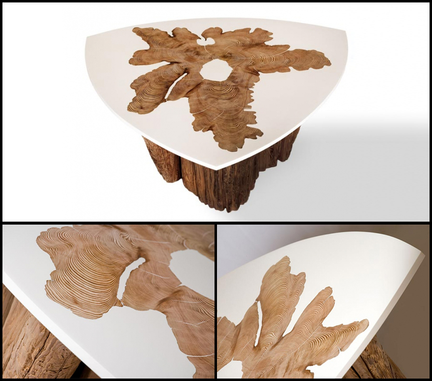Mth Woodworks Wood And Resin Blended Furniture Designs