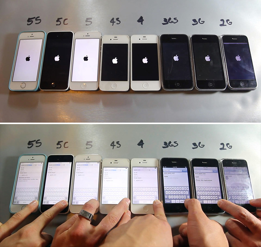 first iphone invented every iphone made side by side in core77 10603