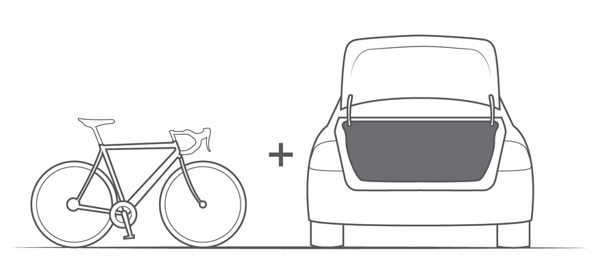 how to put a bike in a car trunk