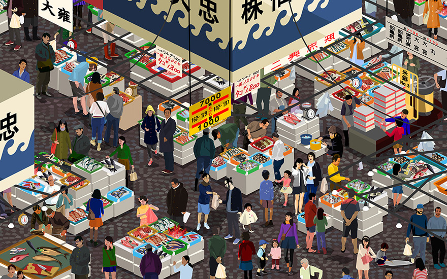 Odlco Presents Marketplace Posters By Jingyao Guo
