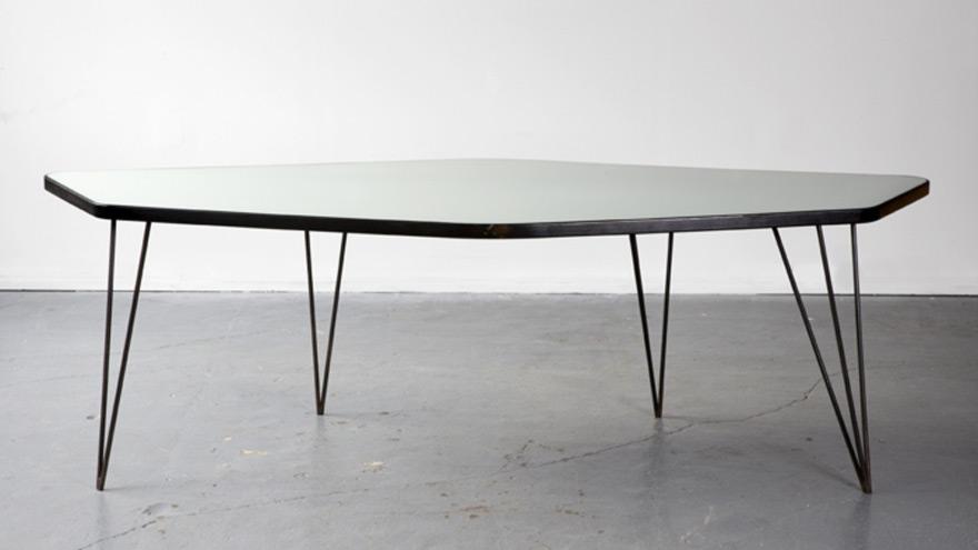 Exhibition Of Work By Brazilian MidCentury Master Joaquim Tenreiro - Six sided table