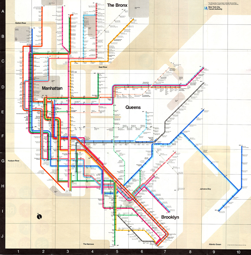 Nyc Subway Map Vs Actual.What Influences The Design Of Nyc Subway Maps Vignelli Associates