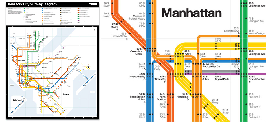 Nyc Subway Map Massimo Vignelli.What Influences The Design Of Nyc Subway Maps Vignelli Associates