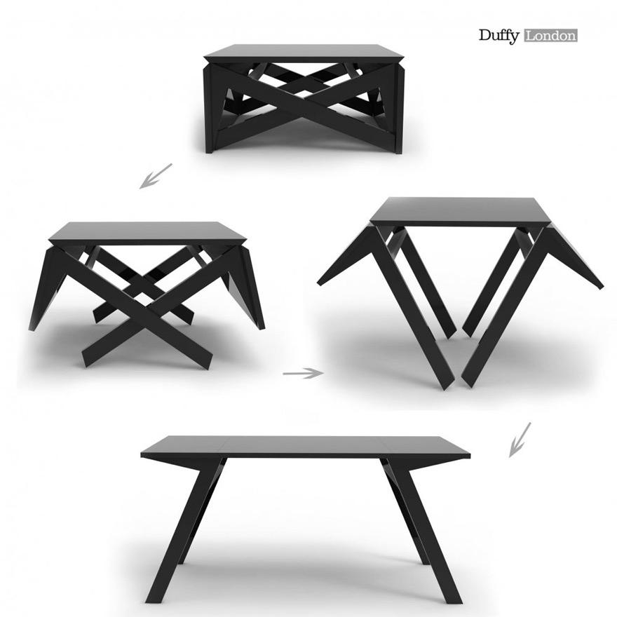 Duffy London S Mk1 Mini Transforming Table Morphs From Coffee Console To Dining Space In Seconds