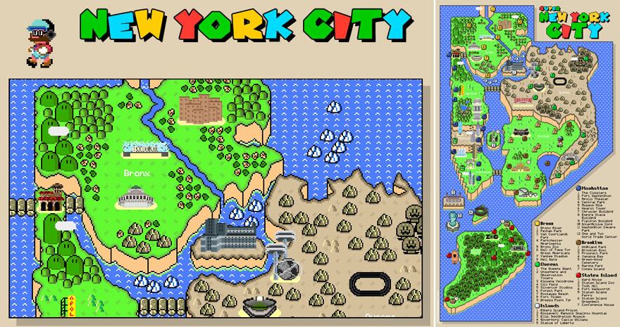Nyc Subway Map Gamw.And Now An 8 Bit Super Mario Version Of The New York City Subway