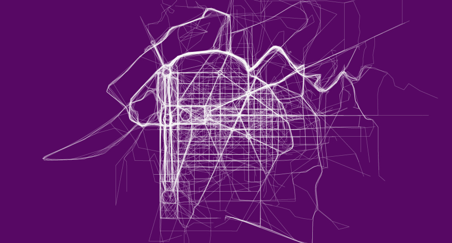Data Visualization Site's Running Route City Maps Look