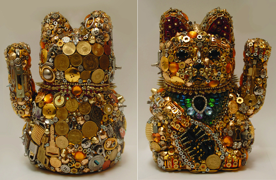 elisa insua s assemblage mosaics turn everyday junk into giant games