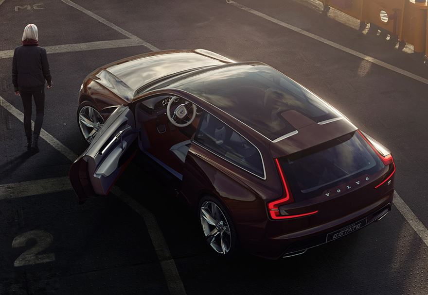 Volvo S Unusual Concept Estate An Le Carplay Boasting Two Door Station Wagon