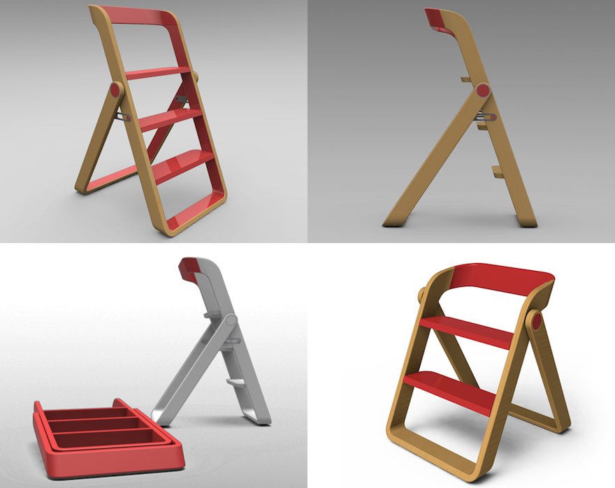 designer kitchen step ladder designing for step stools core77 205