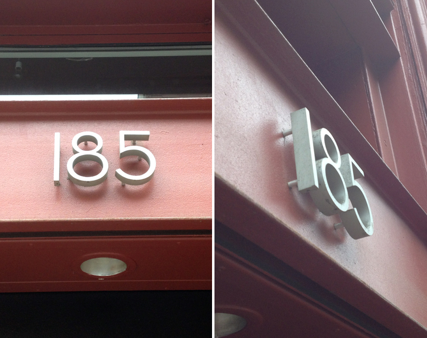 Spicing up your address floating house numbers