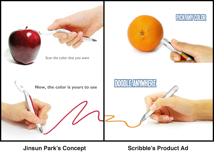 The Scribble Pen Scans Colors Then Reproduces Them Core77