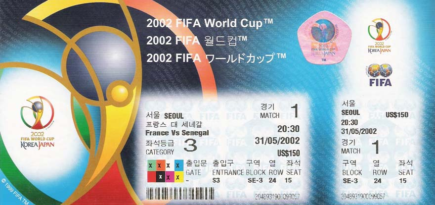 throwback thursday over 80 years of world cup ticket
