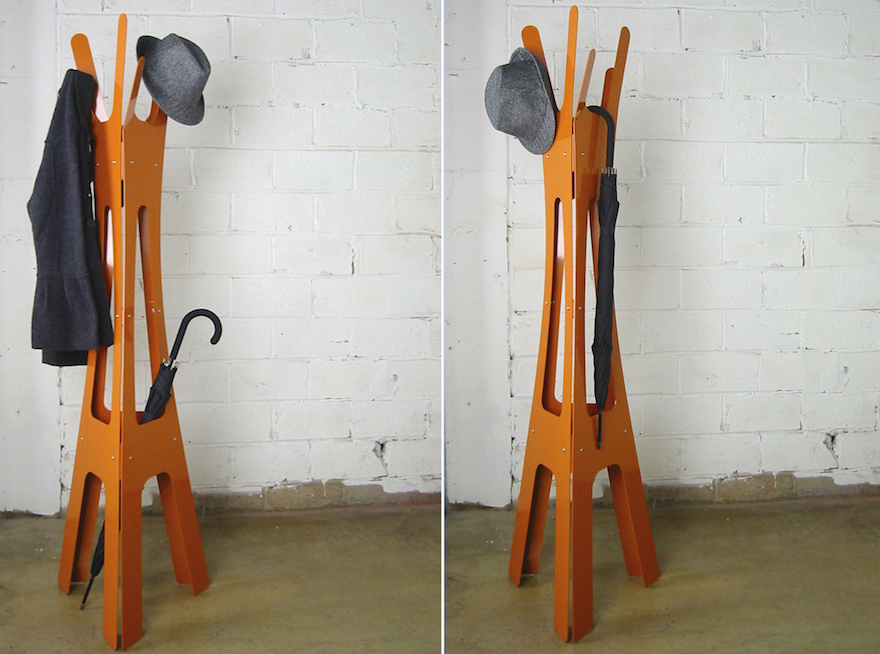 Keeping Clothes Off The Floor Designing A FloorStanding Coat Rack Classy Office Coat Racks
