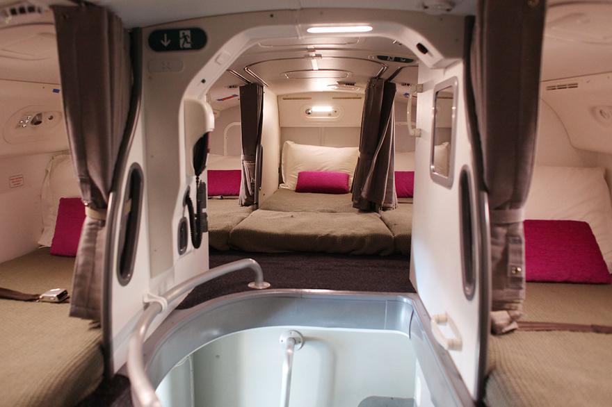 dove dormono i piloti in aereo