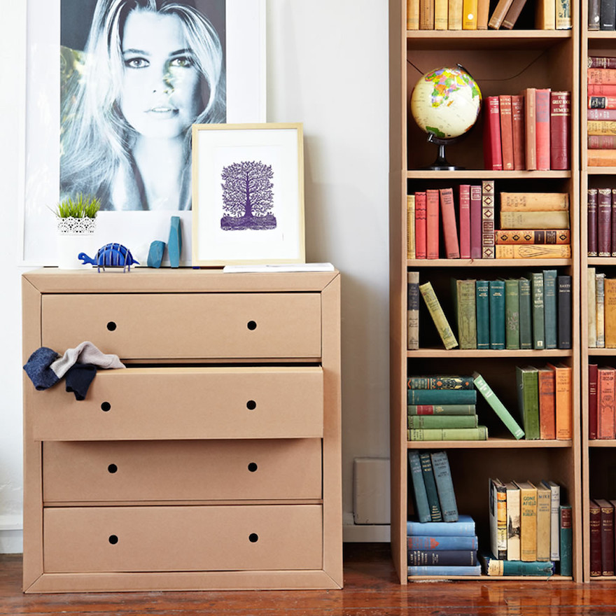 Karton Has Both Bookshelves And Chests Of Drawers Can Cardboard Shelves Really Work For Books The Company Says You Will Be N Away By Incredible