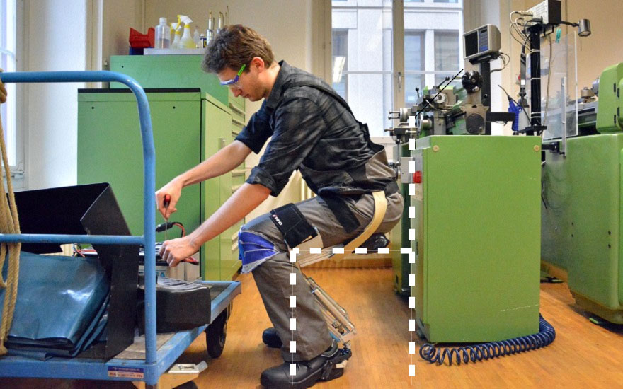 sit happens noonee s so called chairless chair offers wearable