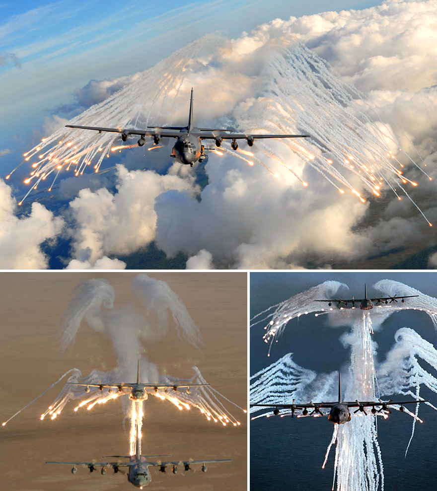 angel of death ac 130 in action heavy gunship firing all its cannons