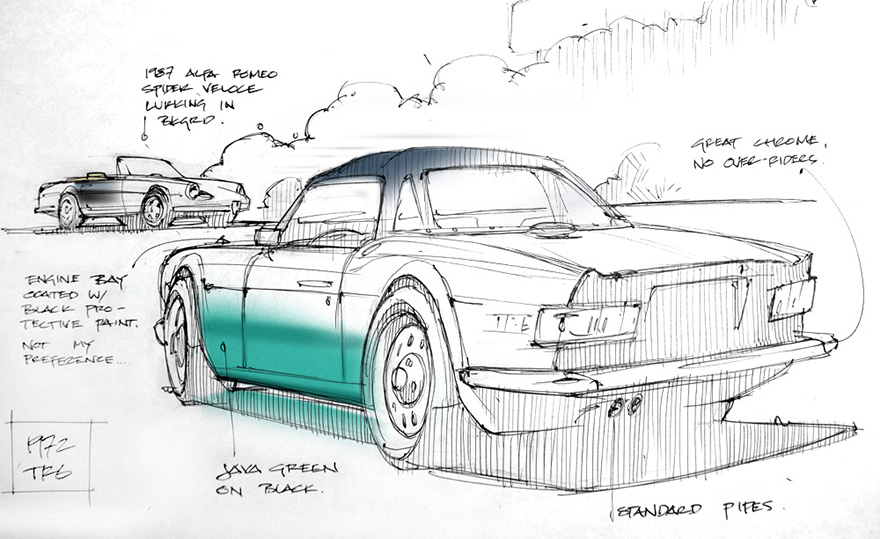 industrial design sketches. This Is How A Sketch-Happy Industrial Designer Shops For Vintage Car Design Sketches D