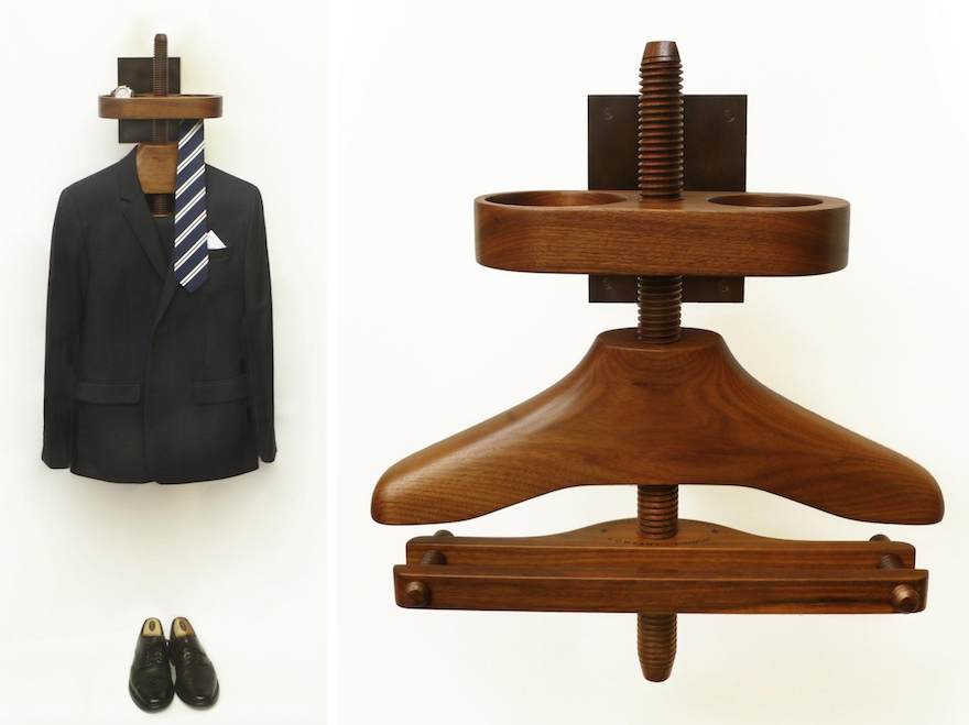 The Gentleman S Valet Company Has A Wall Useful For Rooms Where Floor E Is Limited Provides Either Trouser Bar Or Skirt