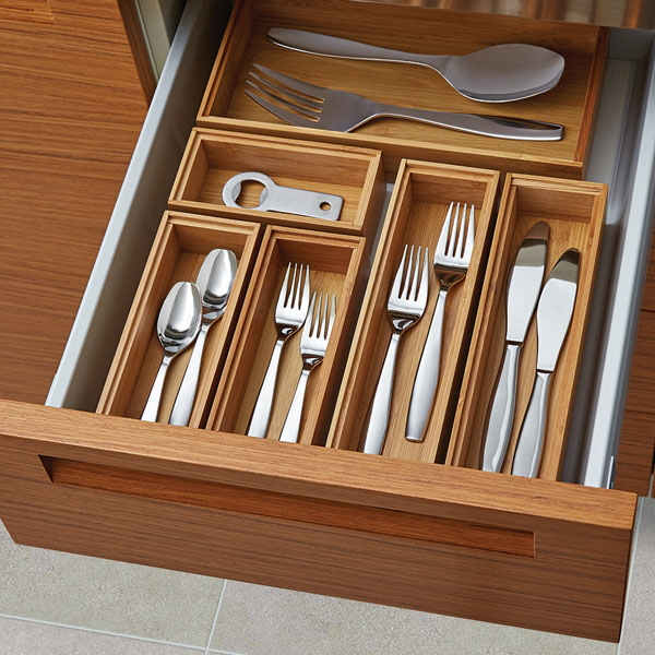 14 ways to organize the kitchen silverware drawer core77. Black Bedroom Furniture Sets. Home Design Ideas
