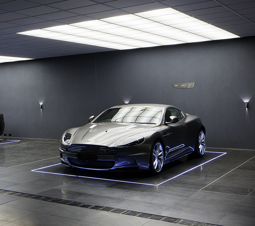 Garage Journal Lights: Architecture Firm Designs Batcave-Inspired Carpark