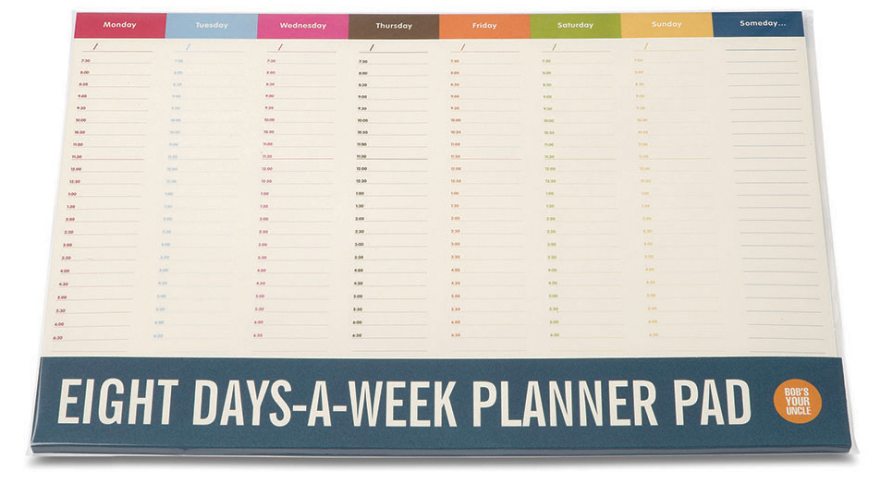 Weekly Calendar Desk Pad : Time management tools weekly planners core