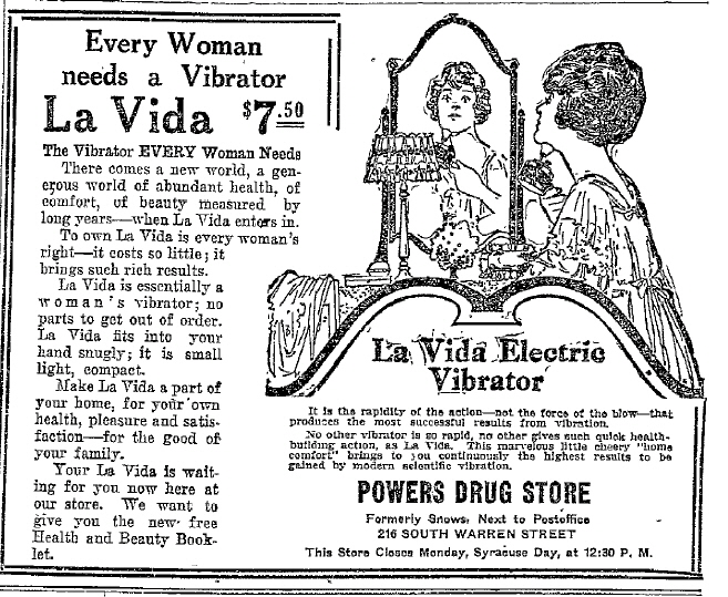 1883. Drawing of Granville's Electric Vibrator