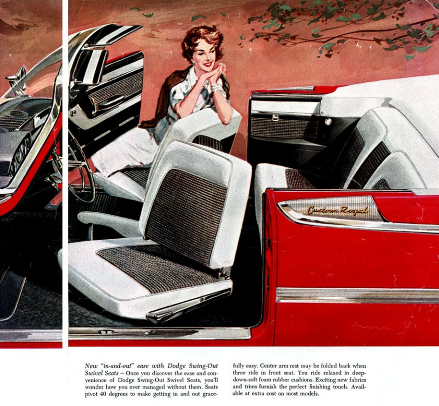 Cars Used To Have Swiveling Front Seats Make Them Easier Get In And Out Of