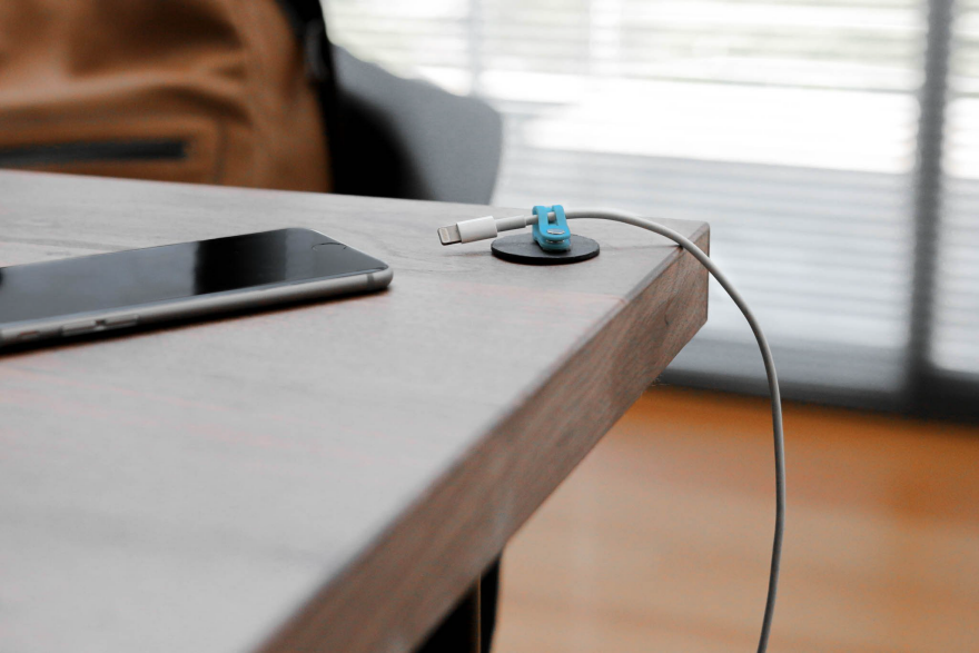 Keep The Cords From Falling To Floor Or Taking Over Desktop