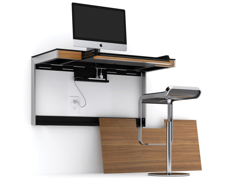 get to work at these 9 wall mounted desks core77. Black Bedroom Furniture Sets. Home Design Ideas